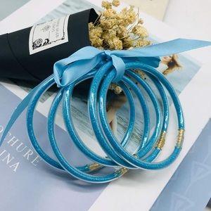 YBMYCM Glitter Jelly Bangles Bracelets Set
